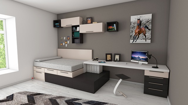 Awesome Guest Bedroom floating shelves