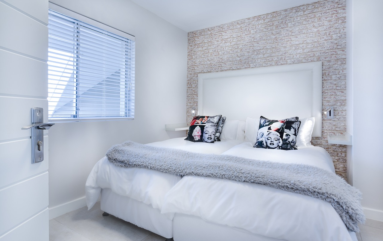 bedroom with white theme
