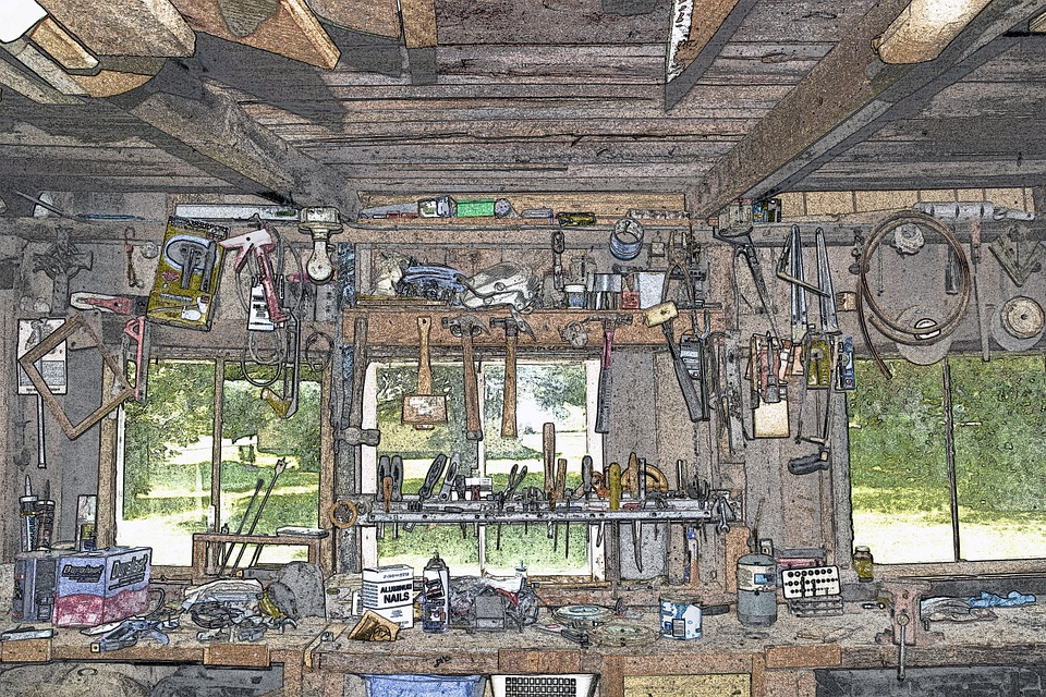 graphic image of a workbench