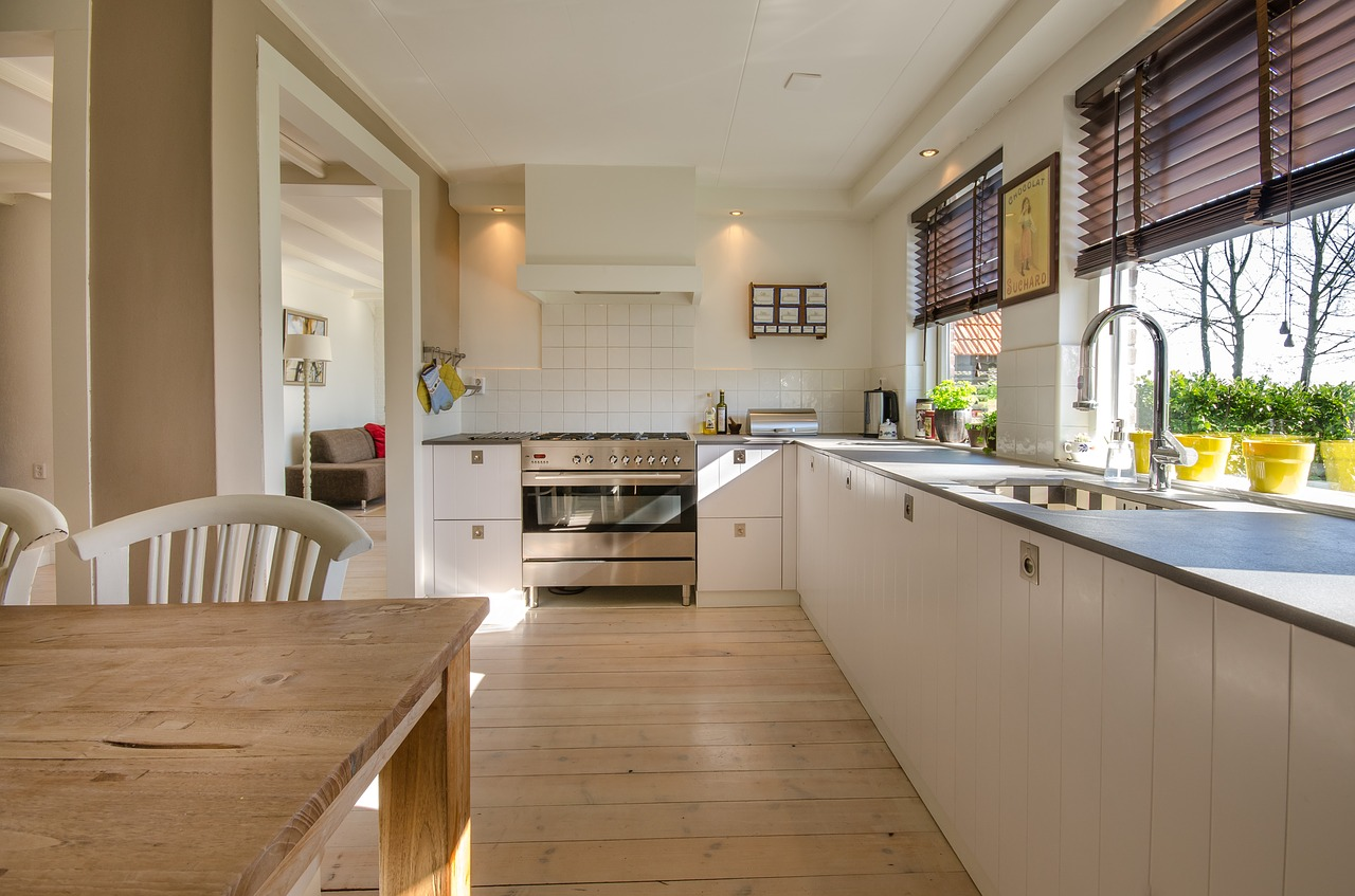 clean and well ventilated kitchen